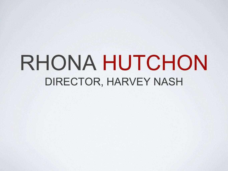 RHONA HUTCHON DIRECTOR, HARVEY NASH