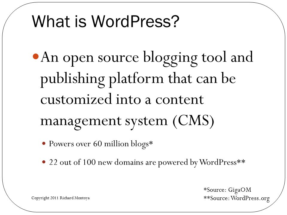 What is WordPress.