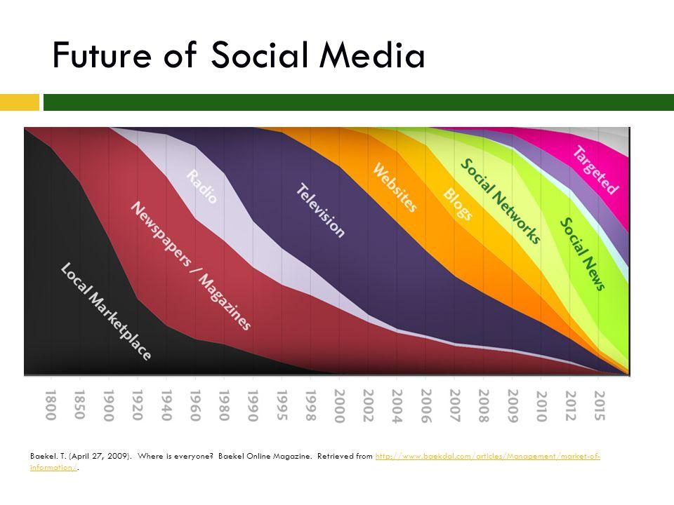 Future of Social Media Baekel. T. (April 27, 2009).