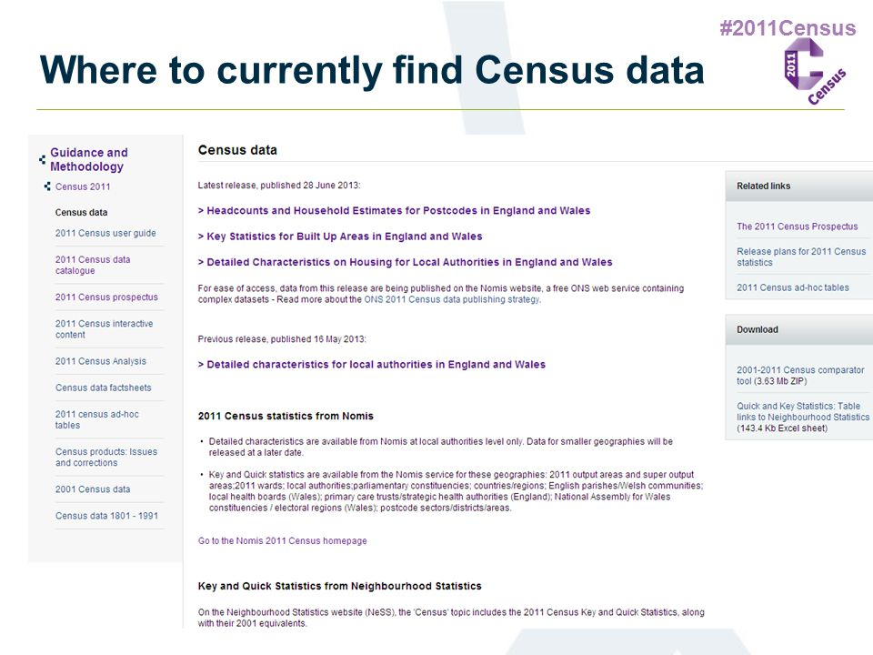 #2011Census Where to currently find Census data