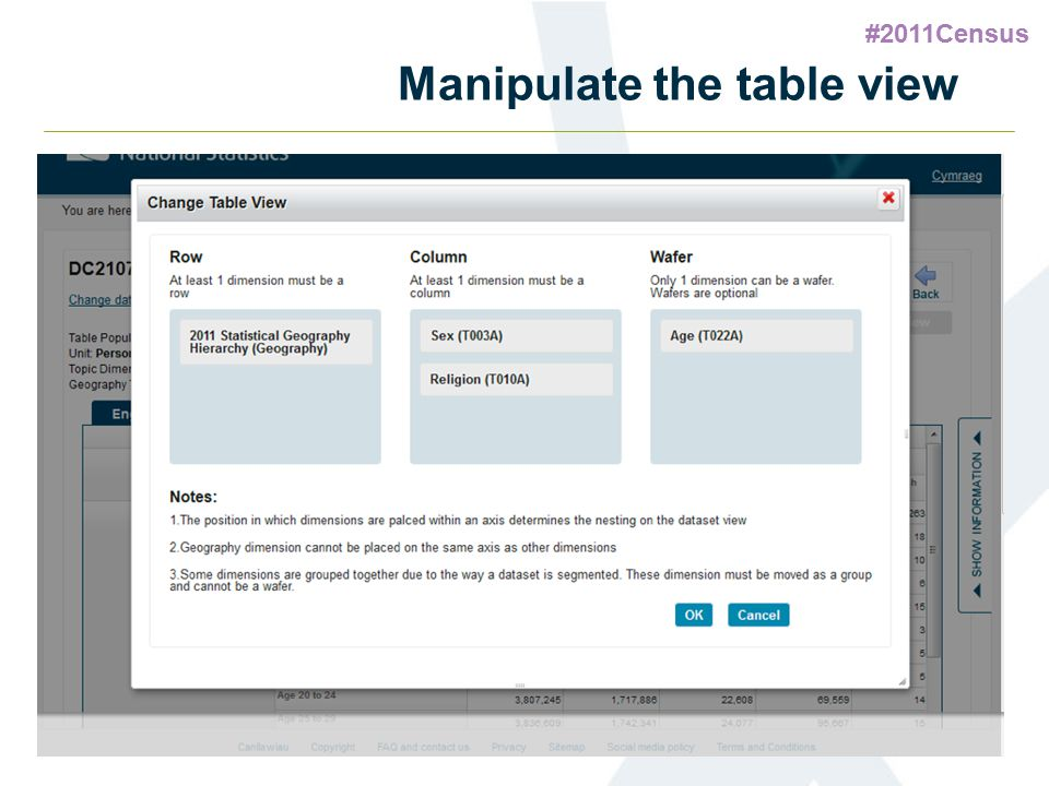 #2011Census 61 Manipulate the table view