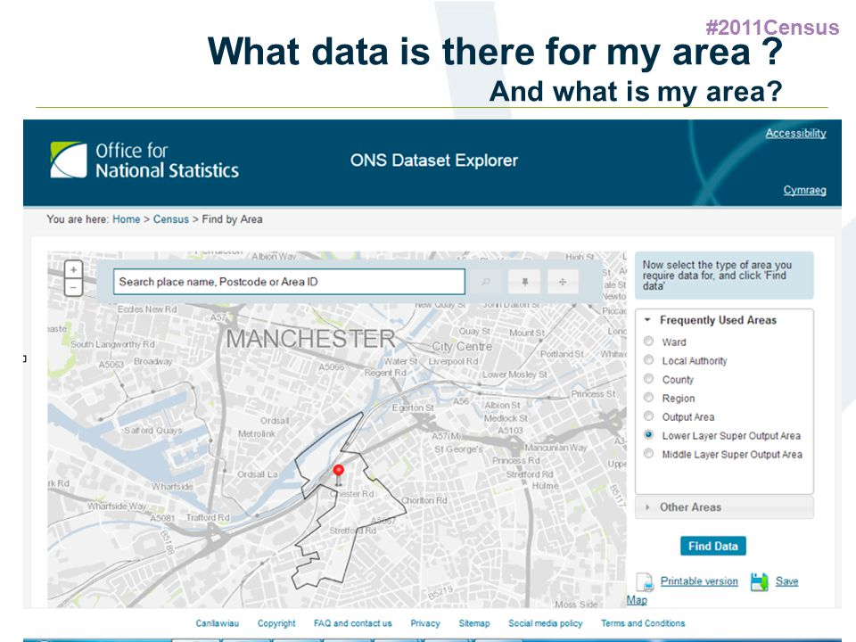 #2011Census What data is there for my area ? And what is my area?
