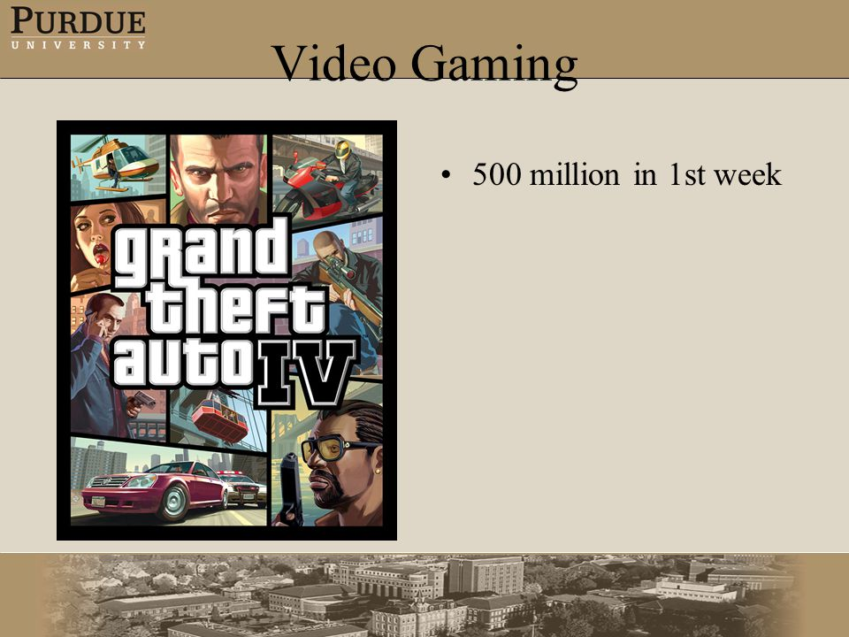 Video Gaming 500 million in 1st week