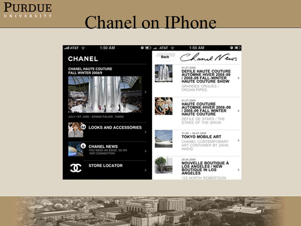 Chanel on IPhone