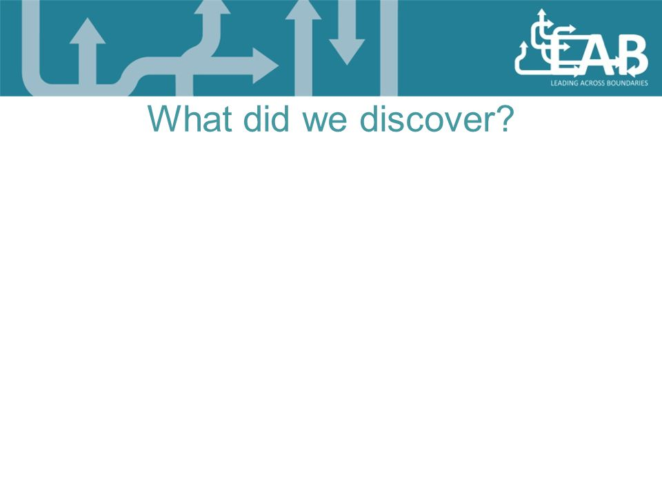 What did we discover?
