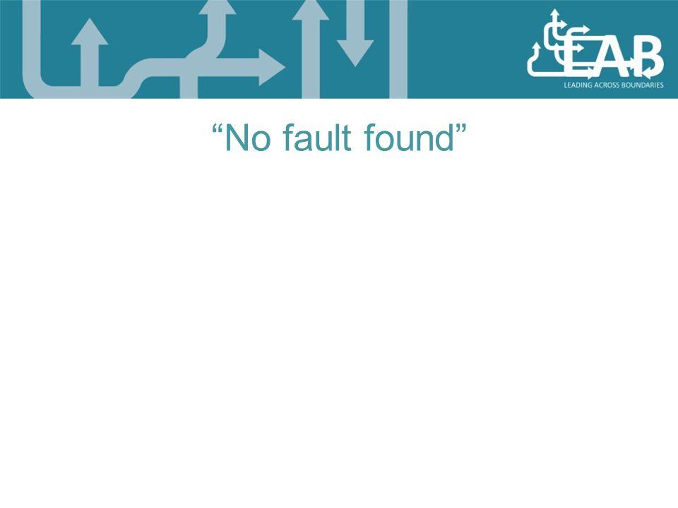 No fault found