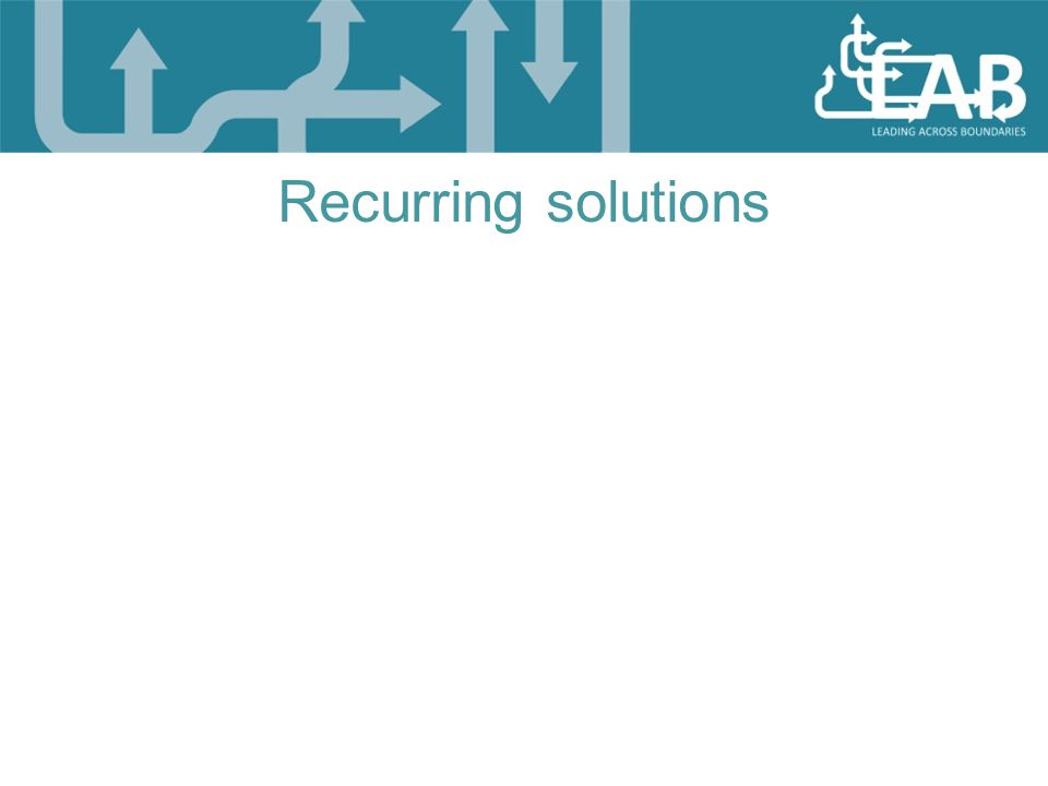 Recurring solutions