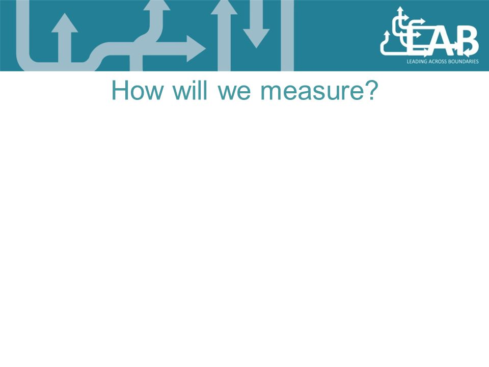 How will we measure?