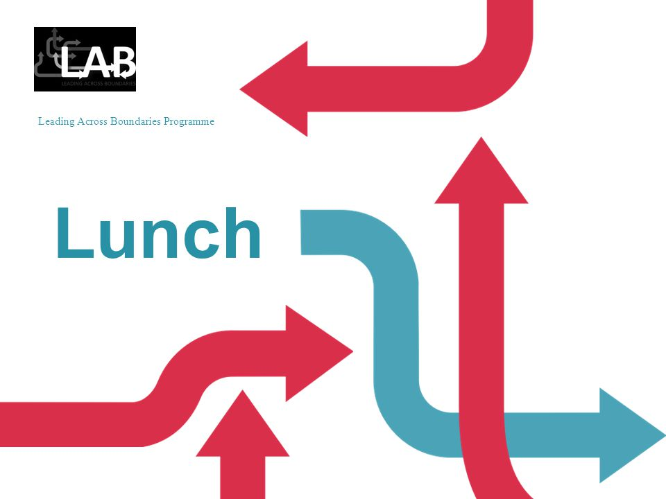 Leading Across Boundaries Programme Lunch