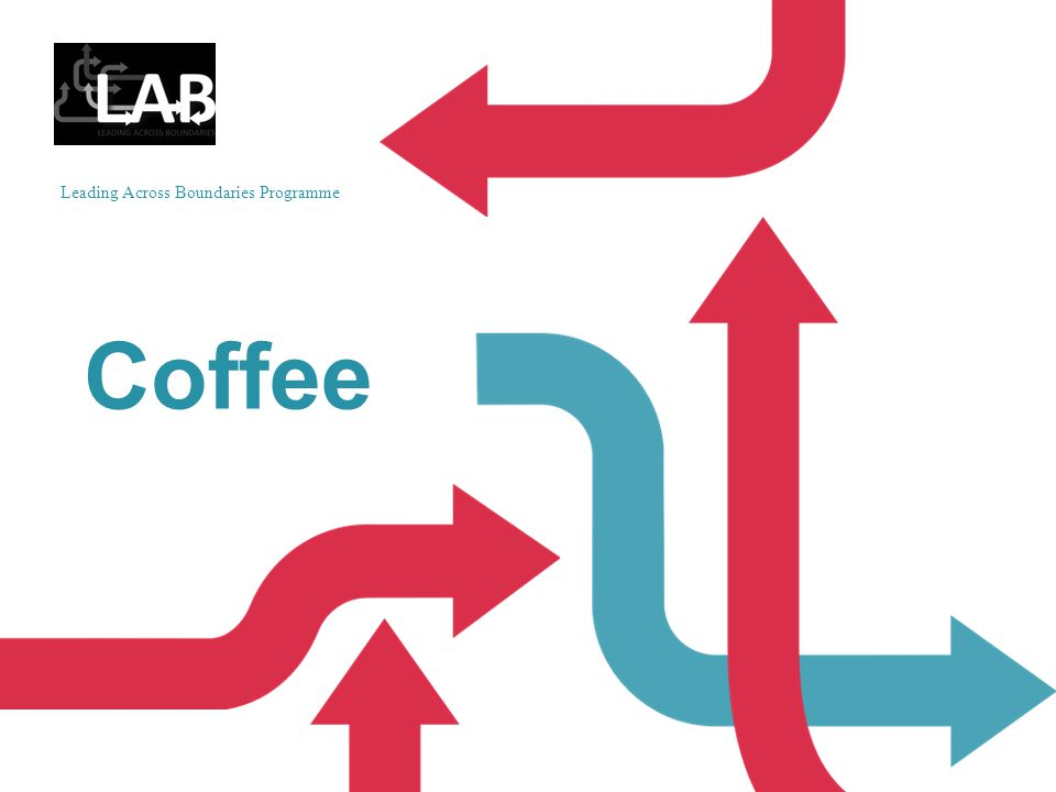 Leading Across Boundaries Programme Coffee