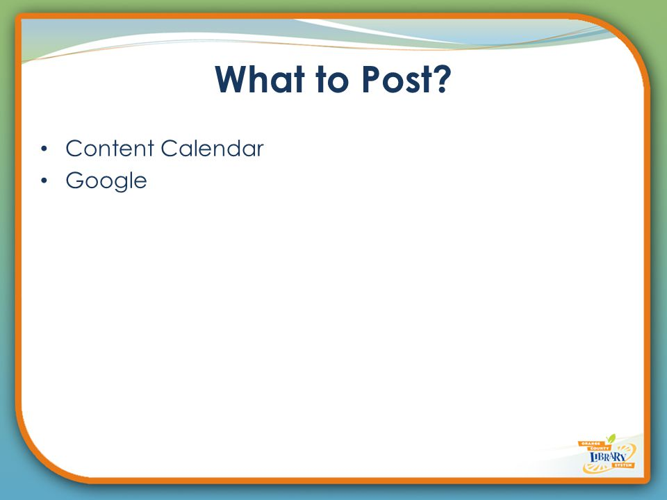 What to Post? Content Calendar Google