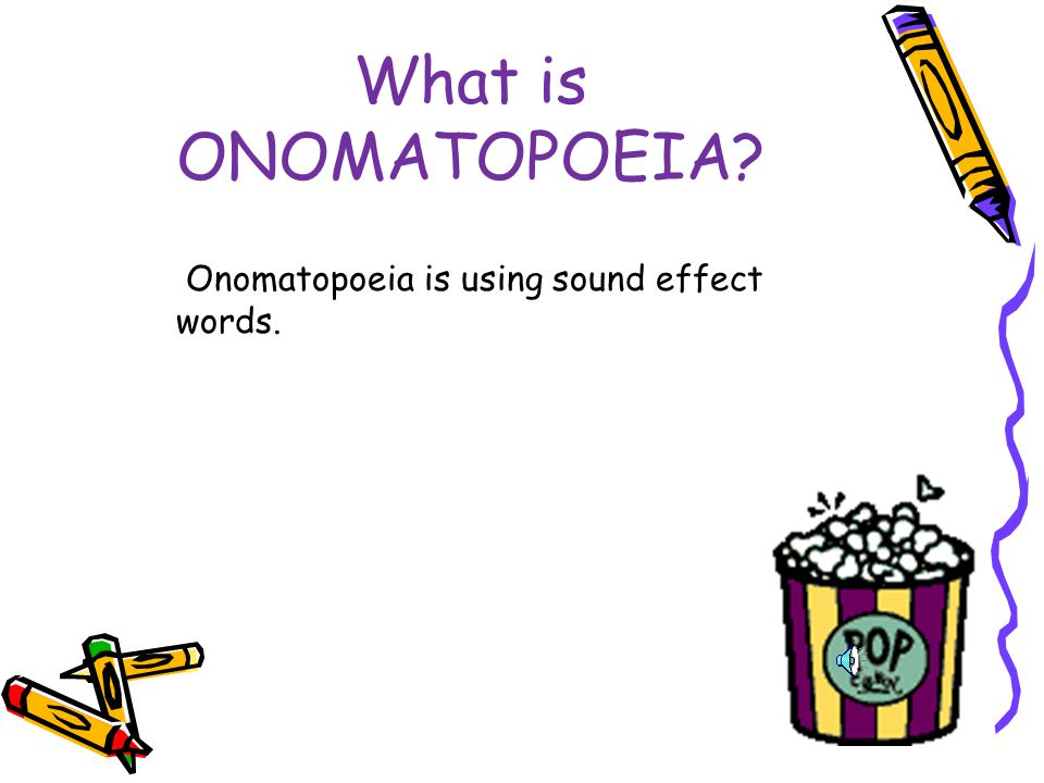 Why is it important to know how to define and identify Onomatopoeia.