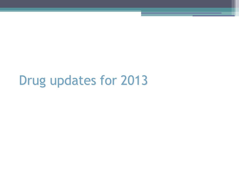 Drug updates for 2013