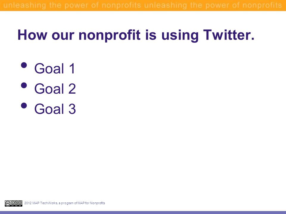How our nonprofit is using Twitter.