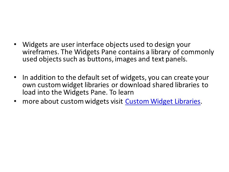 Choose and Search Widget Libraries