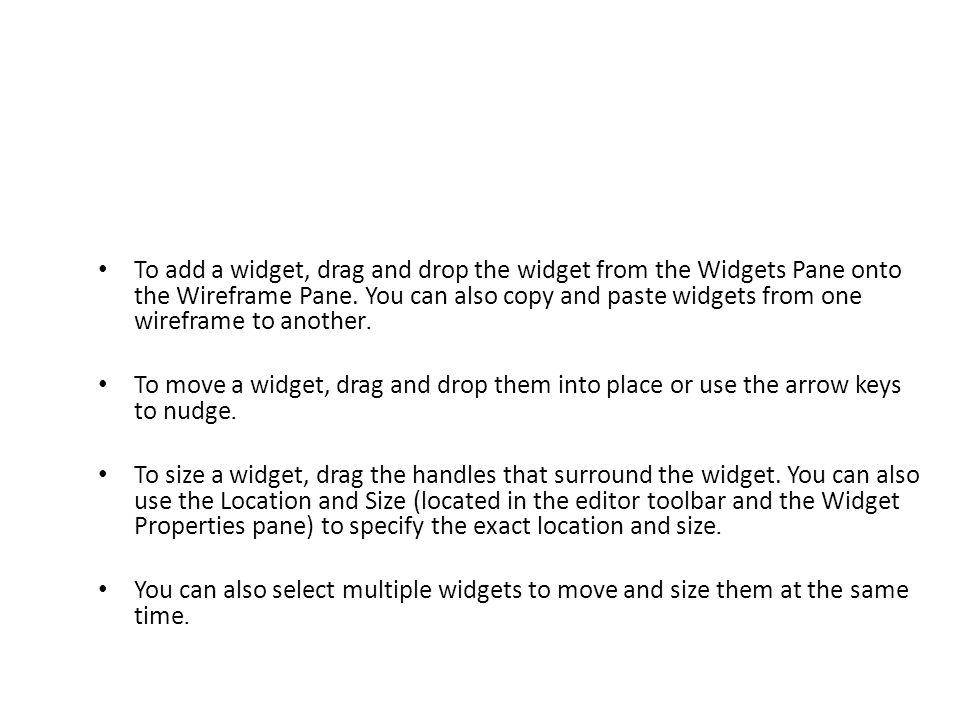 Edit Widget Styles and Properties