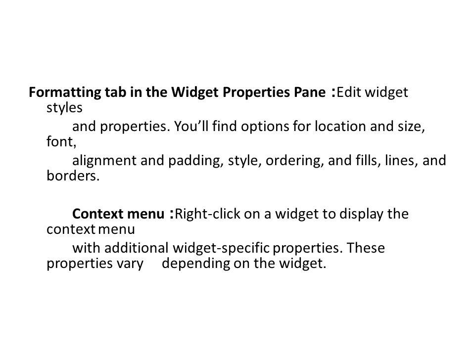Work with Multiple Widgets