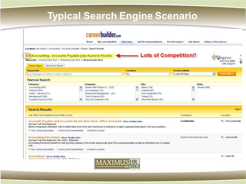 Typical Search Engine Scenario