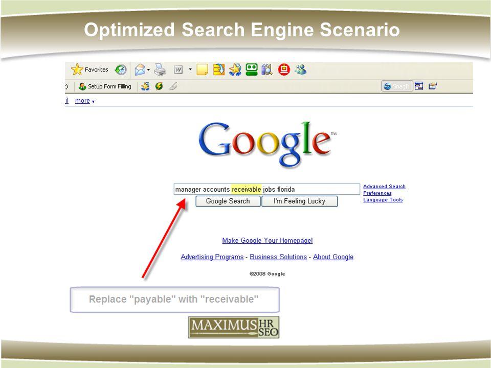 Optimized Search Engine Scenario