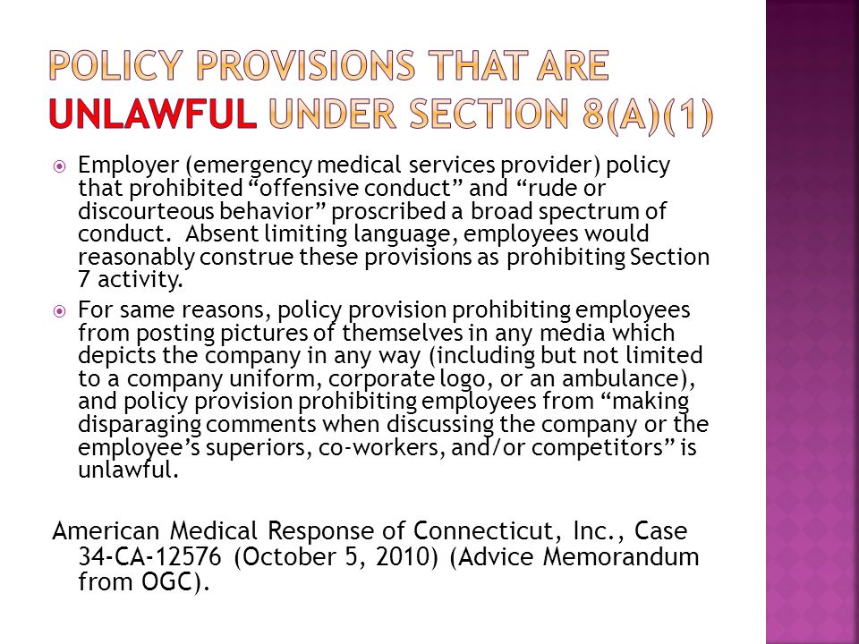  Employer (emergency medical services provider) policy that prohibited offensive conduct and rude or discourteous behavior proscribed a broad spectrum of conduct.