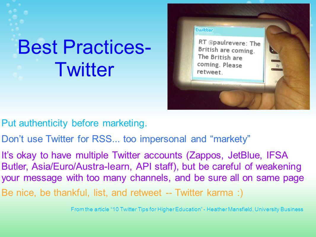 Sample Twitter Conversation - Advising