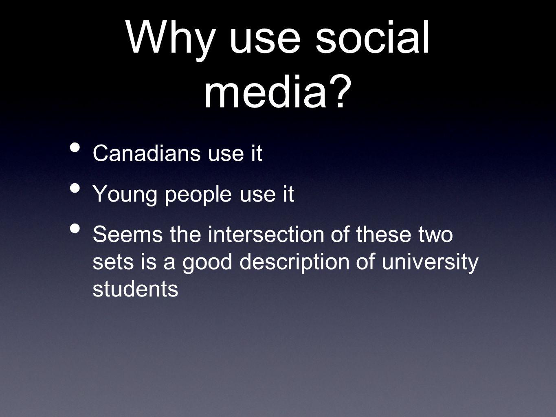Why use social media.