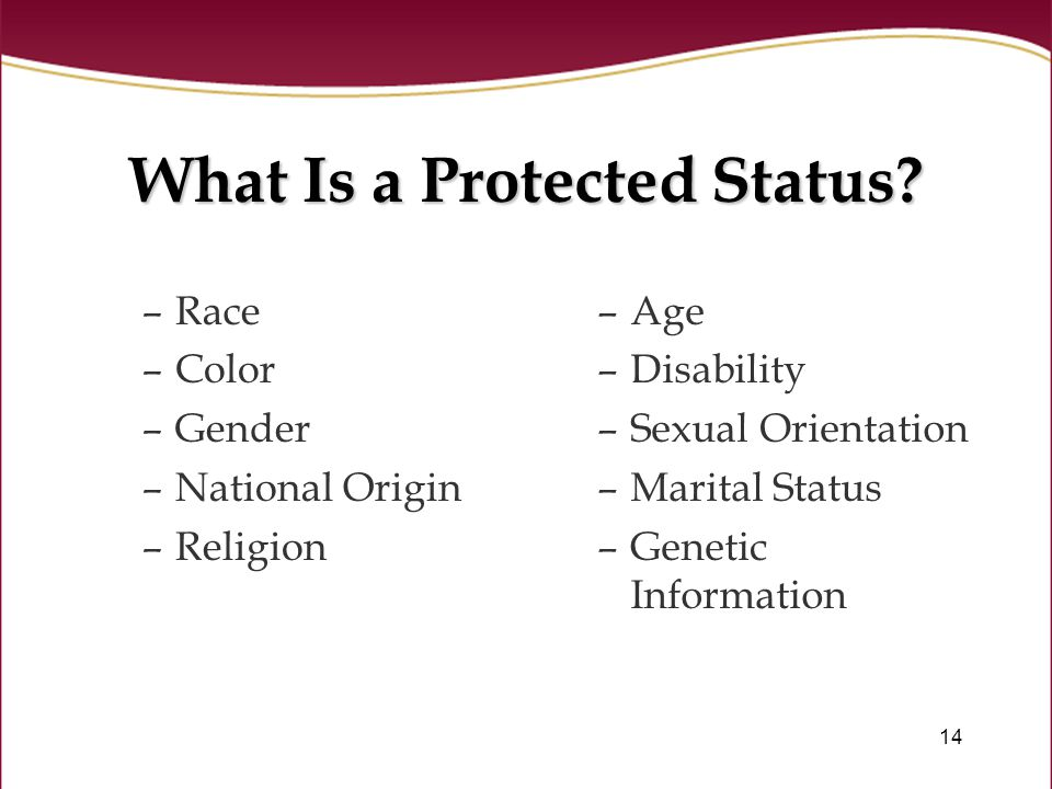 14 What Is a Protected Status.