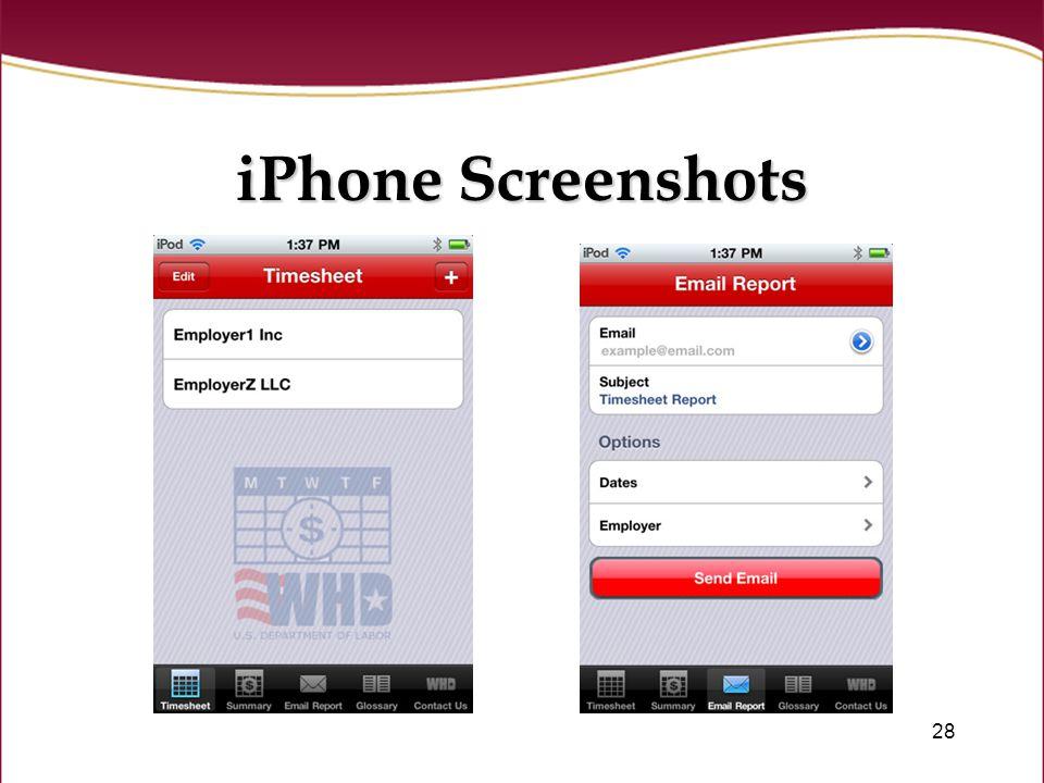28 iPhone Screenshots