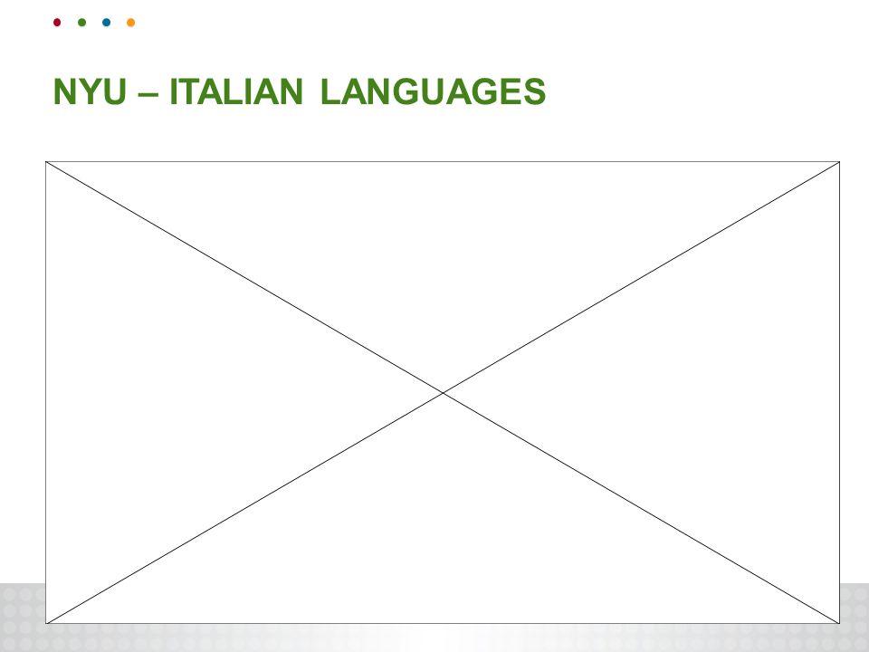 NYU – ITALIAN LANGUAGES