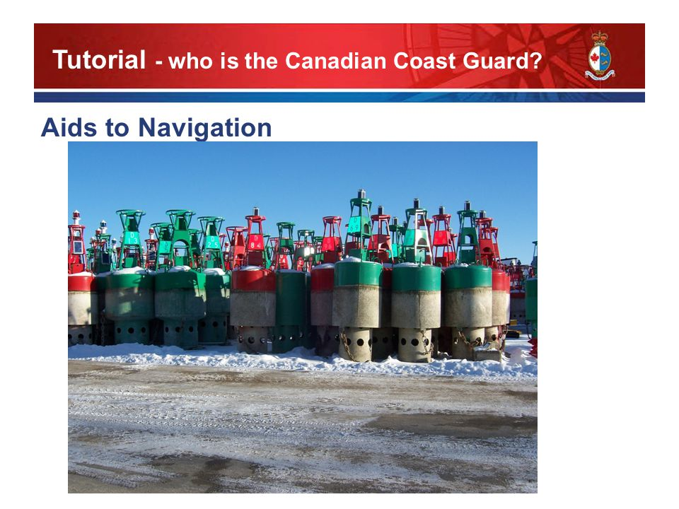 Aids to Navigation Tutorial - who is the Canadian Coast Guard
