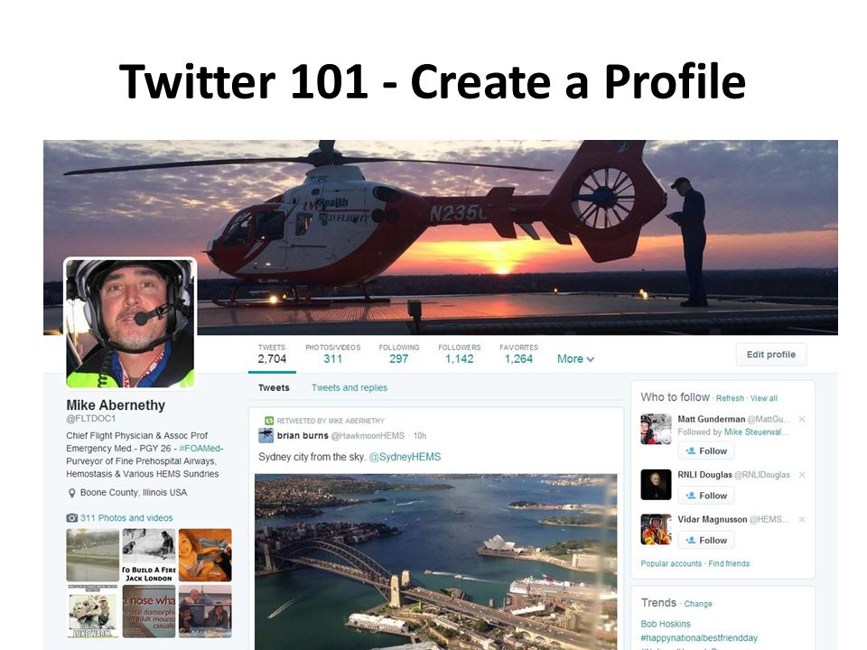 Twitter 101 - Create a Profile