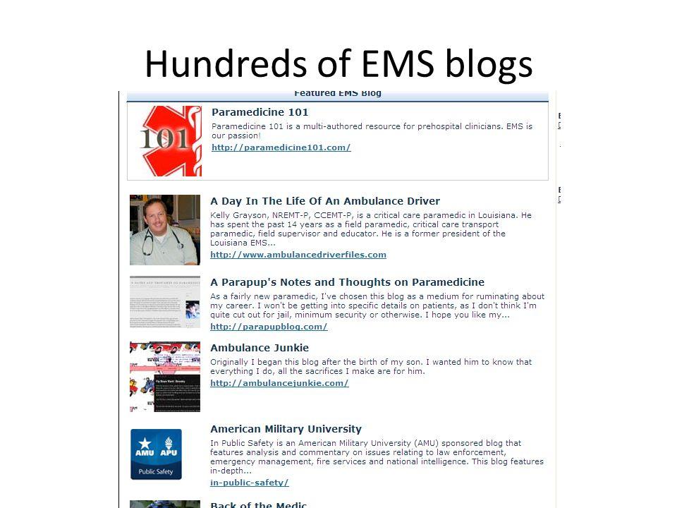 Hundreds of EMS blogs