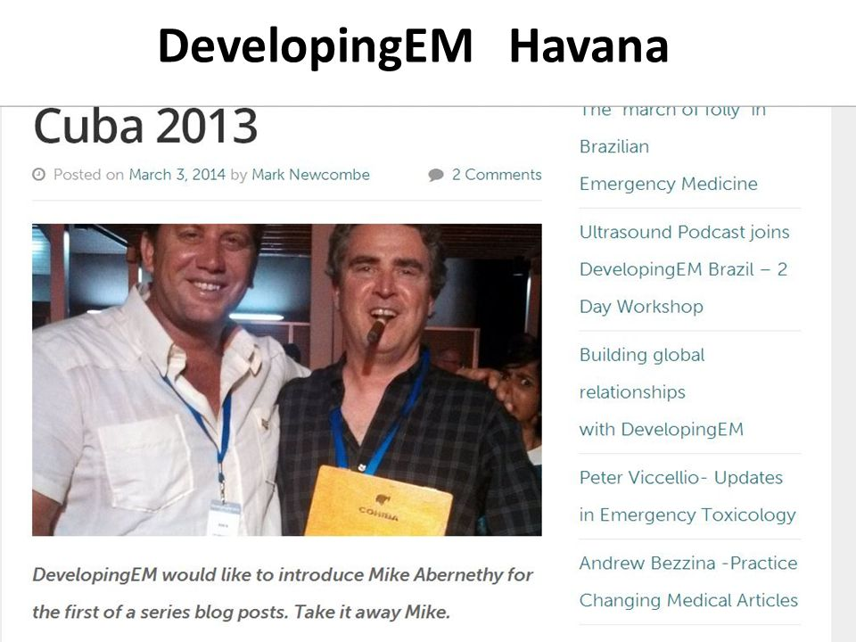 DevelopingEM Havana