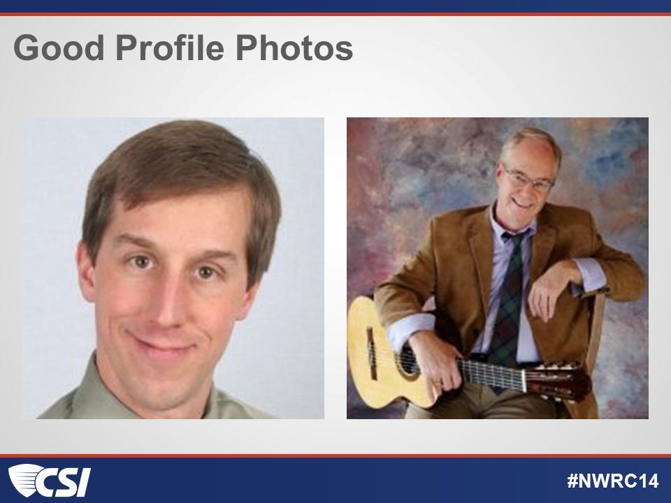 Good Profile Photos #NWRC14