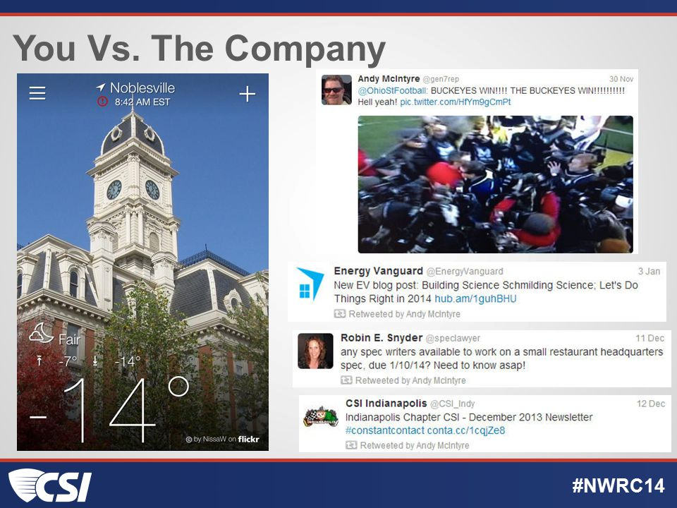 You Vs. The Company #NWRC14