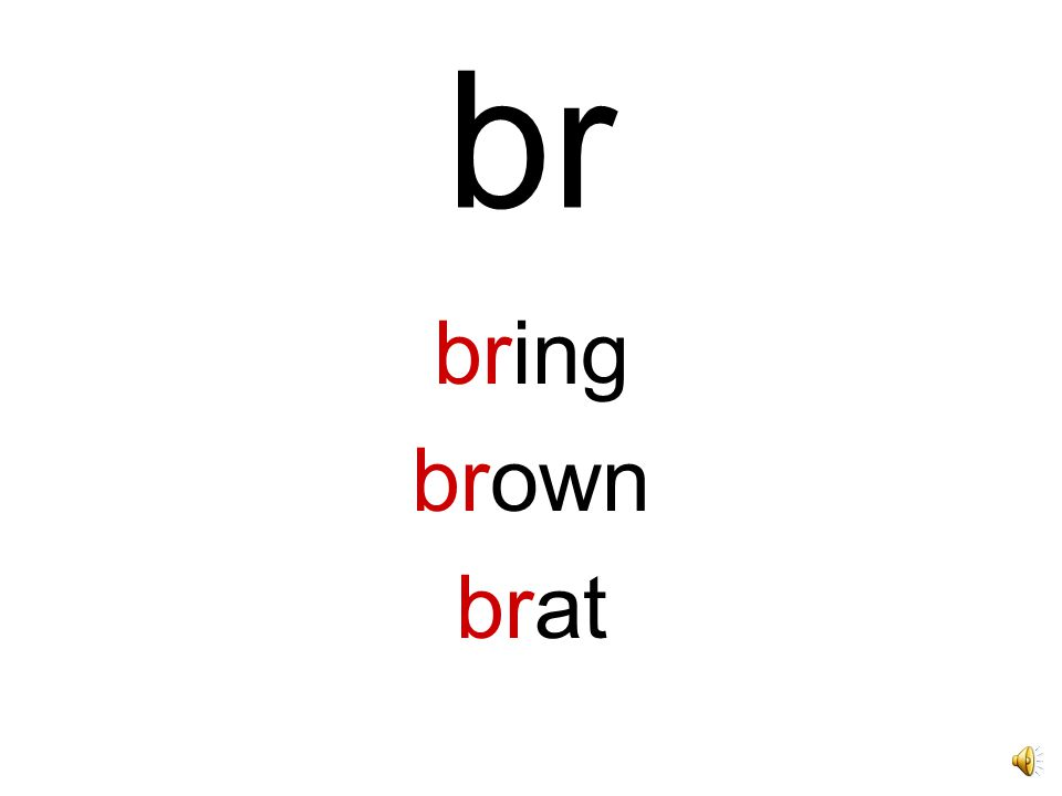 Beginning Blends and Digraphs Say these beginnings, and the words that have these beginnings to practice your blends.