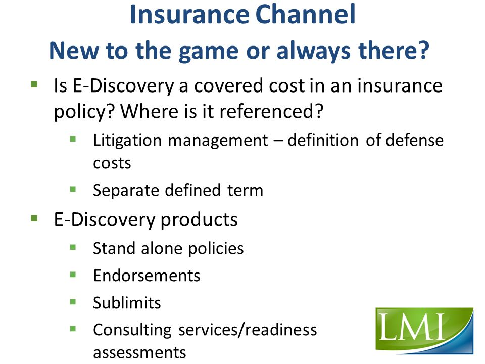 Insurance Channel New to the game or always there.