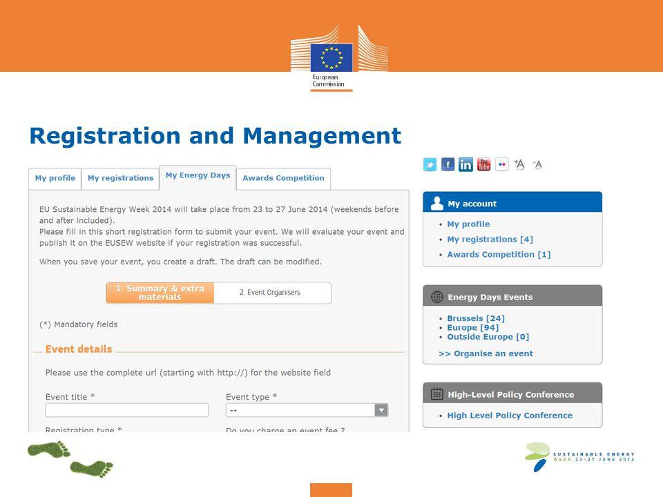 Registration and Management