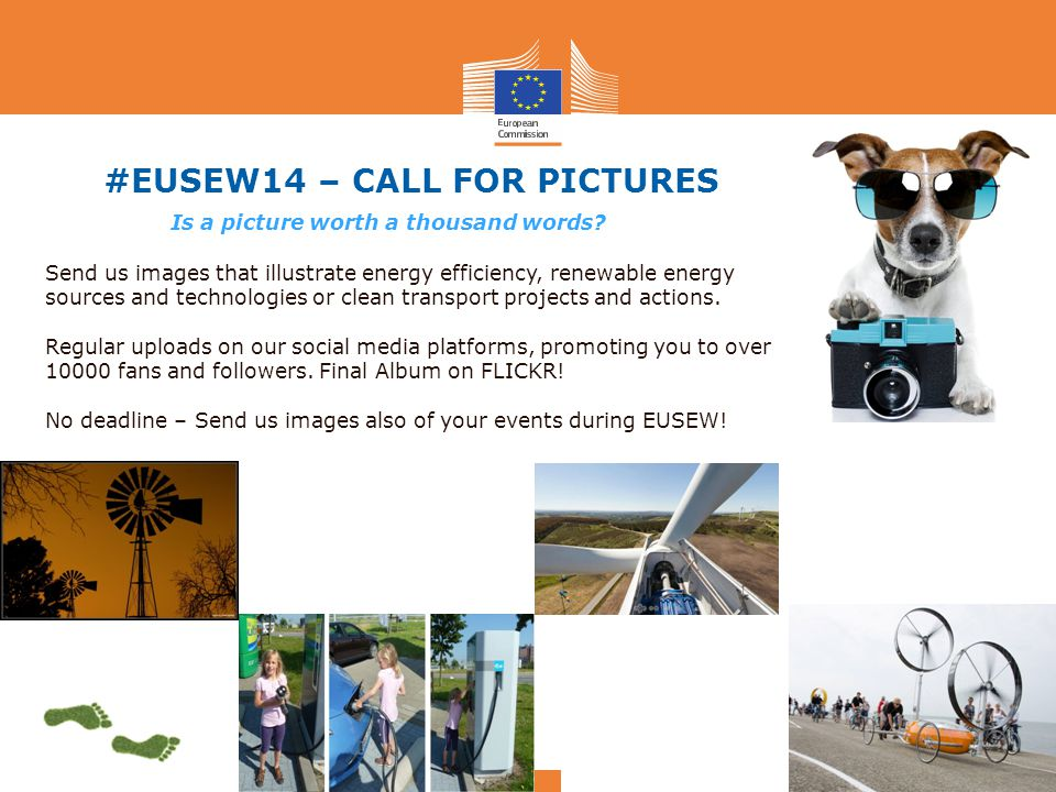 #EUSEW14 – CALL FOR PICTURES Is a picture worth a thousand words.