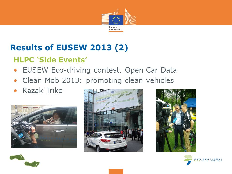 Results of EUSEW 2013 (2) HLPC 'Side Events' EUSEW Eco-driving contest.