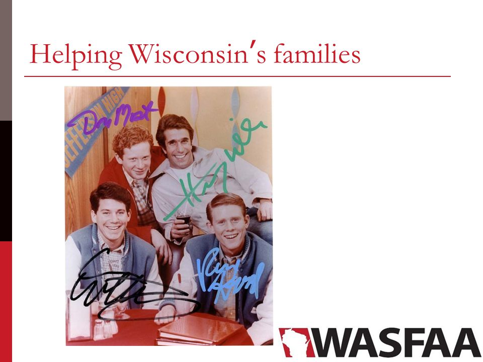 Helping Wisconsin's families