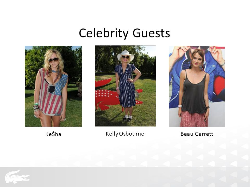 Ke$ha Kelly Osbourne Beau Garrett Celebrity Guests