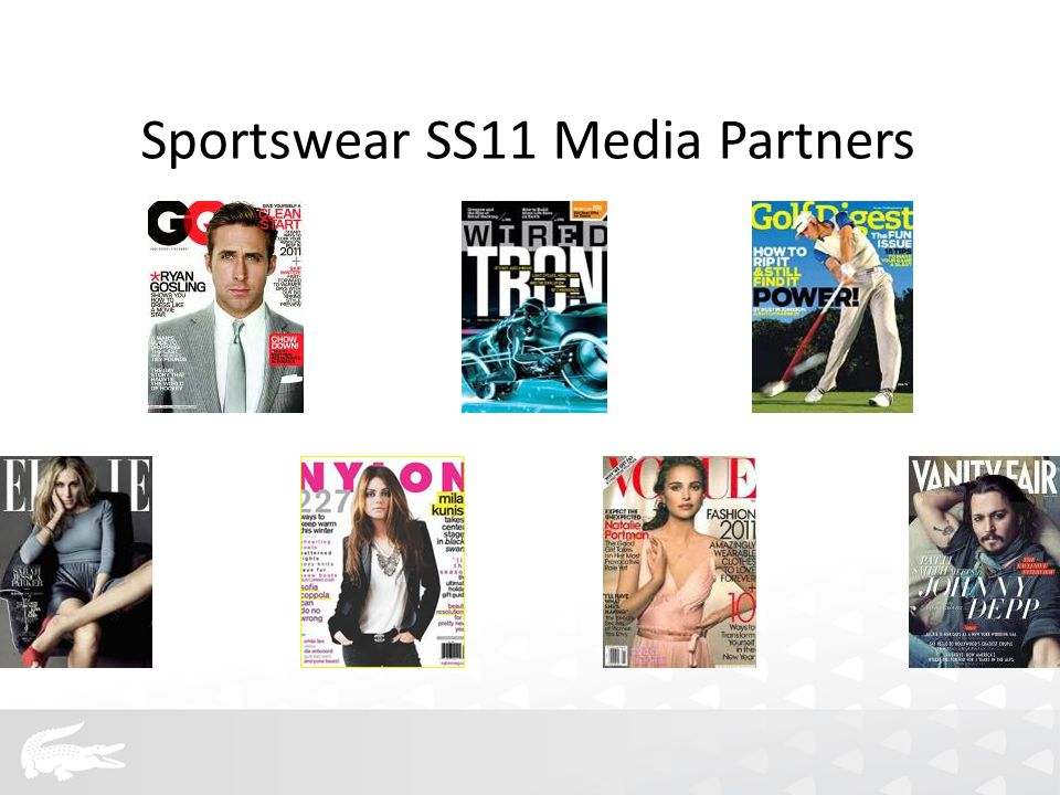 Sportswear SS11 Media Partners
