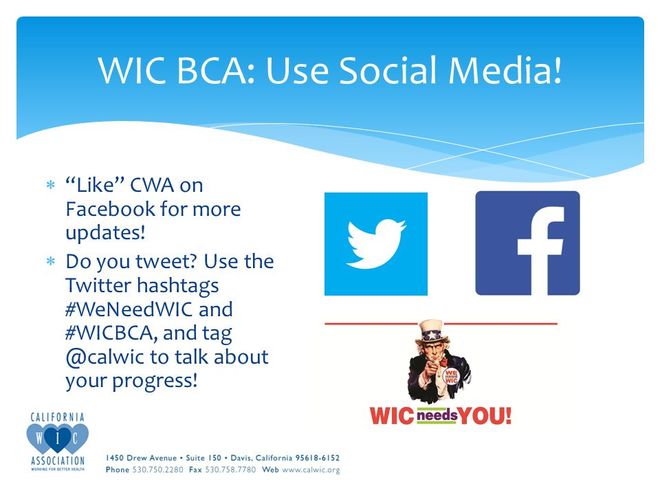  Like CWA on Facebook for more updates.  Do you tweet.