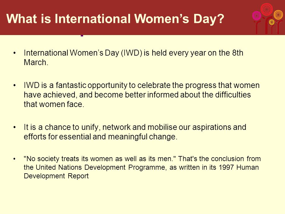On International Women's Day, send us a tweet @RosaForWomen and tell us who is your favourite woman and how she inspires change using the hashtags #IWD2014 and #IWDRosa14 You can also send us a picture on Instagram @rosaforwomen using the same hashtags Call to action