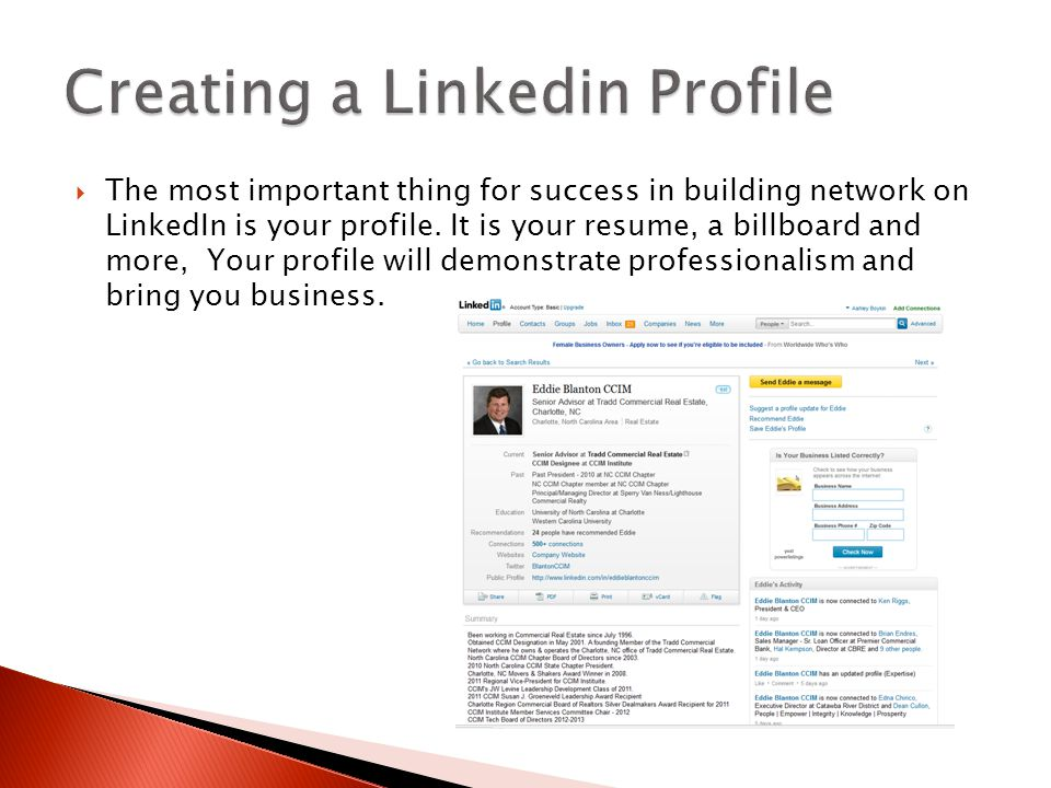  The most important thing for success in building network on LinkedIn is your profile. It is your resume, a billboard and more, Your profile will dem