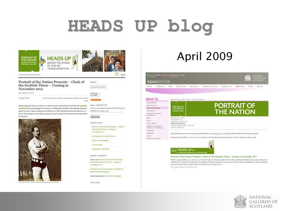 HEADS UP blog April 2009