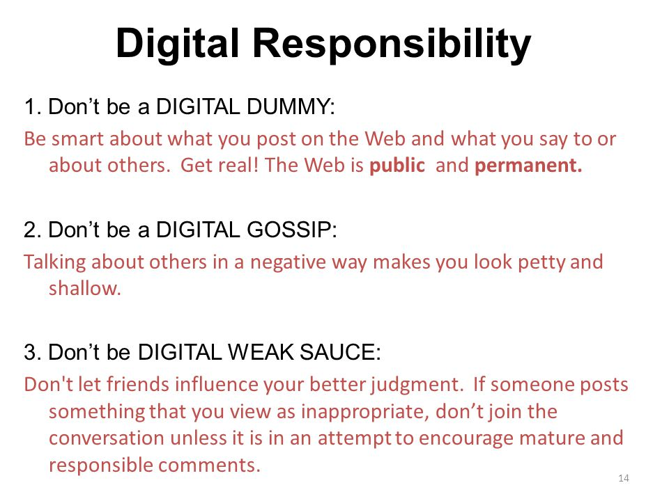 Digital Responsibility 1.