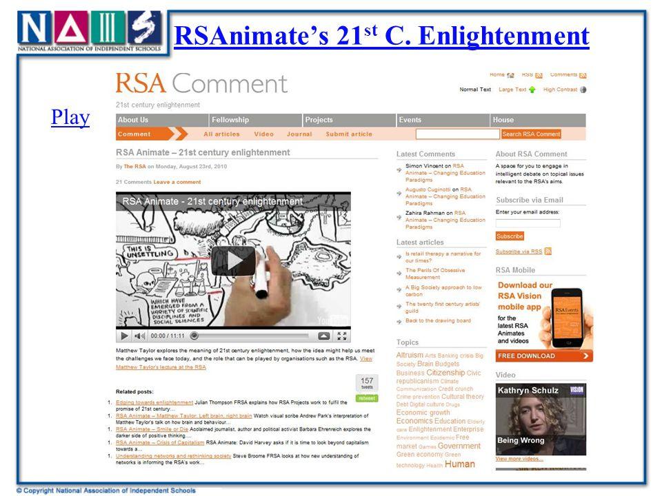 RSAnimate's 21 st C. EnlightenmentRSAnimate's 21 st C. Enlightenment Play