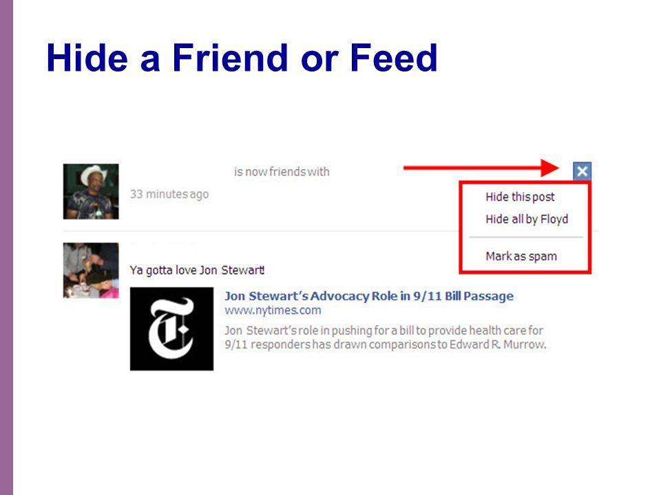 Hide a Friend or Feed